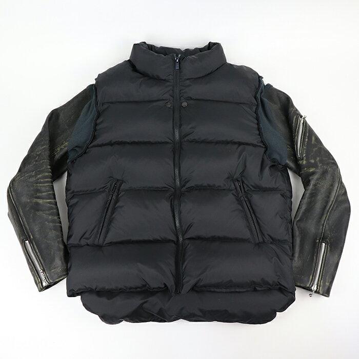メンズファッション, コート・ジャケット UNDERCOVER 30th Anniversary Leather sleeve down jacket 30 BLACK 2021