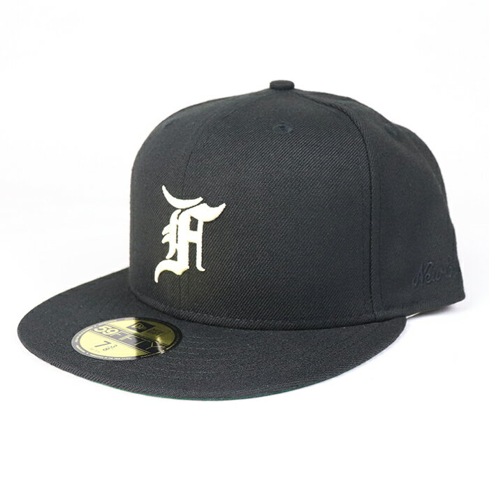 メンズ帽子, キャップ FEAR OF GOD ESSENTIALS NEW ERA 59FIFTY FITTED CAP Black 2021AW FOG