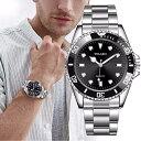 メンズ腕時計 クオーツ ビジネス腕時計 ステンレス シルバー