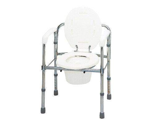 ポータブルトイレ トイレチェア 折りたたみタイプ(スチール製)/T-8303 テツコーポレーション ...