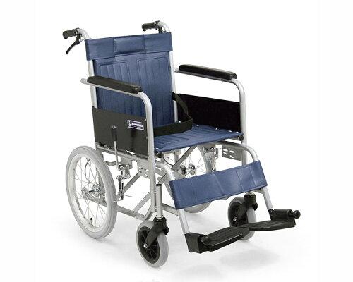 ● スチールフレーム介助用車椅子 KR55 防炎シート採用 カワムラサイクル 【車いす...