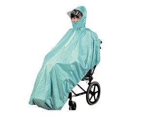 車椅子 レインコート。強い雨でも全身をすっぽりガード。【車椅子 レインコート】車いす用レイ...