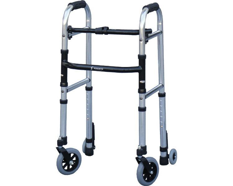 ▲ 歩行器 ミニフレームウォーカー・キャスターモデル M WFM-4262SW5GW3 シンエンス歩行器 軽量 介護 歩行車 介護用品 歩行器 歩行補助