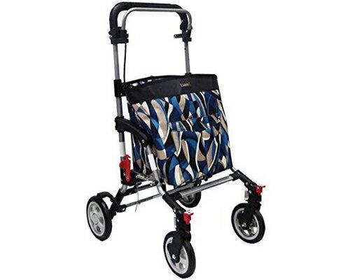 ● シルバーカー アドリブ 島製作所手押し車 老人 ショッピングカート 折りたたみ 4輪 おしゃれ 介護用品 歩行補助 高齢者