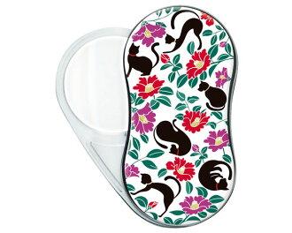 LED搖擺放大鏡SR-1900-24黑猫和山茶花紋放大鏡便利商品動物貓貓花紋