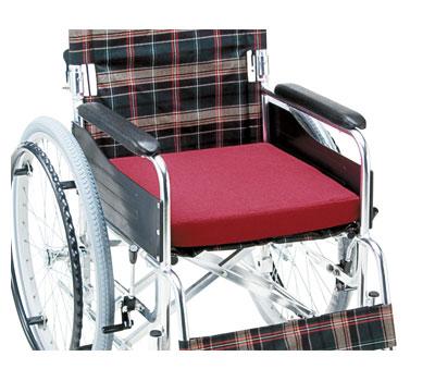 ●車いす用低反発クッションレッドRRM-40REマキテッククッション車イス用高齢者介護用品