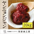 【韓国 味噌 大容量】【送料無料】自家製ヤンニョンジャン 20kg【大阪 鶴橋 徳山物産】