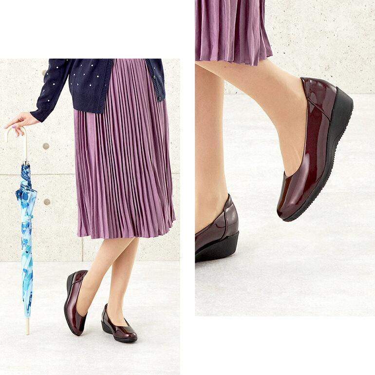【クーポン5種類】 【新商品】 防水レインシューズ 雨用 靴 パンプス 履きやすい 歩きやすい  レディース 3E パンジー pansy [4937]