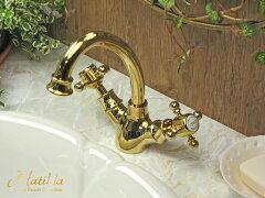 【Matilda水栓】輸入水栓の風合い。手洗い場のレトロ調蛇口レビューで5%OFF♪輸入水栓【Matild...