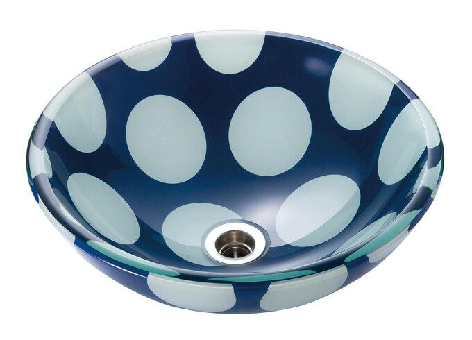 【AQUA】ポルカ(Mサイズ)|ガラスの手洗器。ガラス製の洗面ボウル