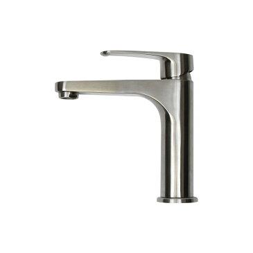 【送料無料】【fusion水栓金具】SSL2361KM コルム ステンレス・中型単水栓 おしゃれな手洗い蛇口|