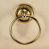 640125 おしゃれな真鍮製タオル掛け・タオルリングS(ヴィクトリアン・ブラス)|アンティーク調ゴールド色【05P03Dec16】