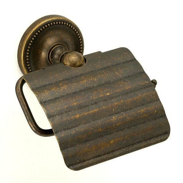 640765 おしゃれなトイレットペーパーホルダー(真鍮古色仕上げ)|アンティーク調トイレットペーパーカバー