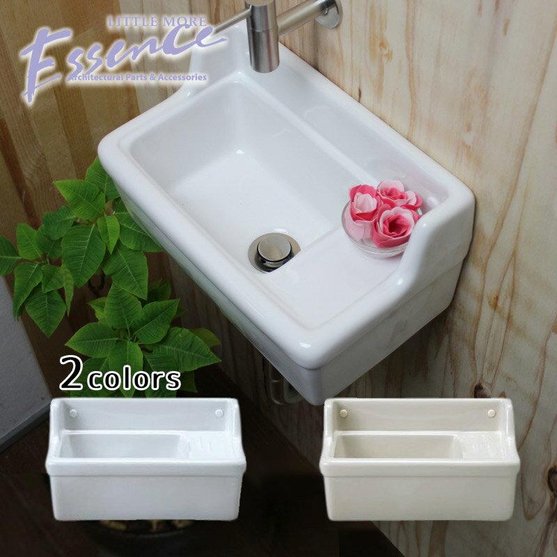 壁付 壁掛け 手洗い器 Sレクタングル 横水栓用 選べる2色