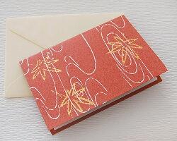 京からかみメッセージカード<竜田川紅葉>封筒付き1枚入り