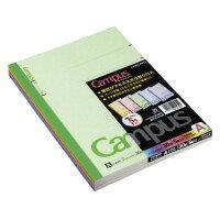 コクヨ  (ノ-3CANX5) キャンパスノートカラー表紙(普通横罫) 6号(セミB5) 罫幅7mm30枚5冊組☆