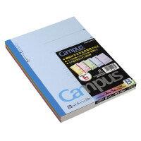 コクヨ(ノ-3CBNX5)キャンパスノートカラー表紙(中横罫)6号(セミB5)罫幅6mm30枚5冊組