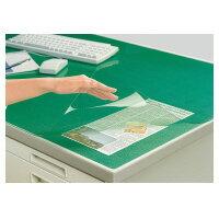 コクヨ(マ-1216NG)デスクマット軟質Wエコノミー塩ビ製緑透明下敷き付6号デスク用