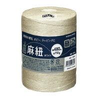 コクヨ(ホヒ-35W)麻紐(ホワイト・ホビー向け)(ホワイト)チーズ巻き480m