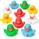 【大決算SALE】ベビーキング 赤ちゃんダック 10個セット お風呂おもちゃ バストイ あひる カウンティング アヒル