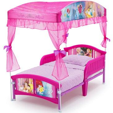 Online ONLY(海外取寄)/ 子ども用ベッド デルタ ディズニー プリンセス キャノピー付き 子供 ベッド 女の子 2歳から 幼児