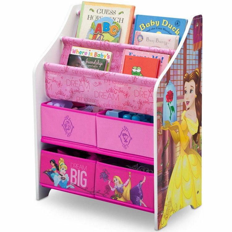 ディズニー プリンセス 本棚 おもちゃ箱 女の子 3-6歳 キャラクター 子供用 家具 収納 Delta