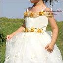 子供ドレス フォーマル 女の子 90-150cm ゴールド ガーネット