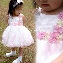 ベビードレス フォーマル 女の子 70-90cm ピンク キャサリン