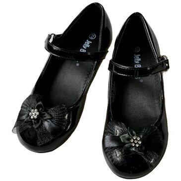 フォーマル 靴 女の子 18.5-23.5cm ブラック シューズ
