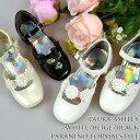 フォーマル靴 女の子 14-15cm ホワイト ブラック ローラ アシュレイ シューズ
