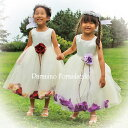 子供 ドレス フォーマル 女の子 100-160cm レッド パープル...