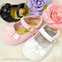 フォーマル靴 女の子 9.5-15.5cm ホワイト ピンク ブラック シューズ