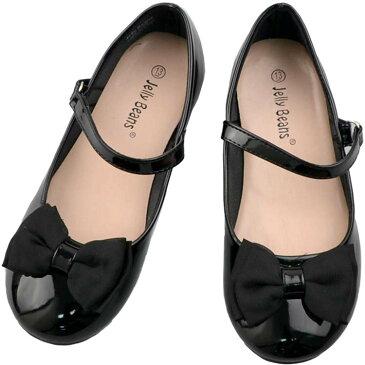 フォーマル 靴 女の子 18-23.5cm ブラック キッズ シューズ