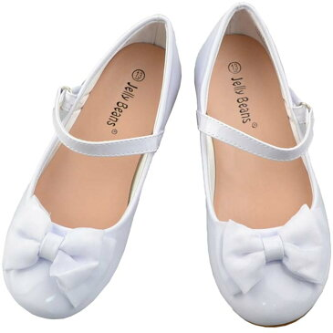 フォーマル 靴 女の子 18-23.5cm ホワイト キッズ シューズ