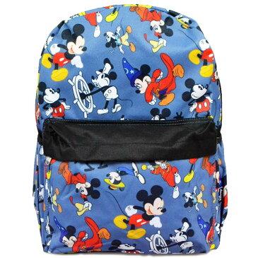 【P5倍・11月04日20時から】リュックサック ディズニー ミッキーマウス 総柄 Lサイズ 女の子 男の子 子ども リュック 大きめ 子供 かばん キャラクター 通学バッグ
