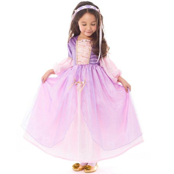 94be4aa40162d ラプンツェル コスチューム 女の子 100-125cm プリンセス ドレス ハロウィン 衣装 子供