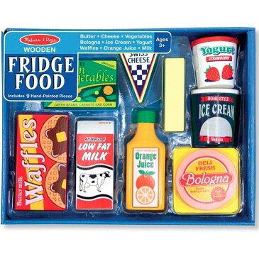 Melissa&Doug フリッジセットおままごと木製冷蔵庫食材(FridgeFoodSet) メリッサ&ダグ