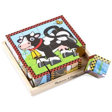Melissa&Doug ファームキューブパズルゲーム〈知育パズル〉(FarmCubePuzzle) メリッサ&ダグ