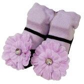 マッドパイ 0-12ヶ月 フラワー リボンループ ベビーソックス 靴下
