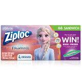 レターパック(プラス)送料無料/ ジップロック ディズニー アナと雪の女王2 サンドイッチバッグ 66枚 お菓子 コンテナ 袋 Ziploc