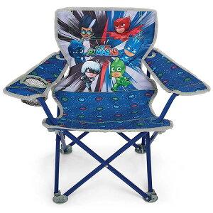 【P2倍・7月4日20時〜+クーポン有】子ども アウトドアチェア しゅつどう!パジャマスク 折りたたみ ドリンクホルダー付き 1人用 椅子 キッズ チェアー 背もたれ PJMASKS