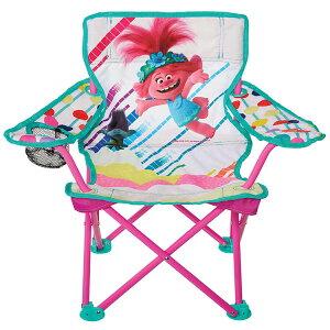 子ども アウトドアチェア トロールズ ミュージック パワー 折りたたみ ドリンクホルダー付き 1人用 椅子 キッズ チェアー 背もたれ