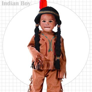 【ママ割エントリーでP5】 ルービーズ インディアン ボーイ コスチューム 男の子 女の子 90-120cm 11778 ハロウィン 衣装 子供