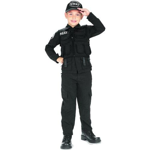コスチューム 子供 男の子 90-150cm スワット ポリス