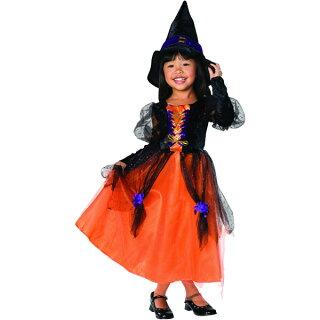 魔女魔法使い子どもキッズ女の子♪【ハロウィンパーティーグッズコスプレ仮装変装衣装】