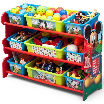 Online ONLY(海外取寄)/ デルタ ディズニー ミッキーマウス デラックス 9ビン おもちゃ箱 3-6歳