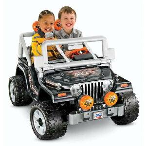 【8月上旬予約販売】フィッシャープライスJeepジープラングラートーキング乗用玩具2人乗りバッ...