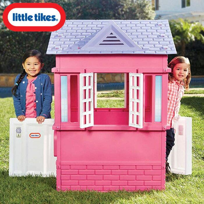 【訳あり】リトルタイクス ケープコテージ プレイハウス ピンク 大型遊具 Littletikes 485145M /配送区分B