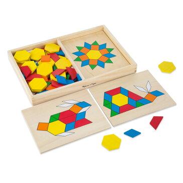 【P2倍・〜6月25日00時+クーポン有】Melissa&Doug 知育玩具 パズル パターンブロック&ボード クラシックトイ