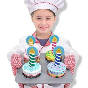 【P2倍・〜6月25日00時+クーポン有】Melissa&Doug デコレートカップケーキおままごと木製 メリッサ&ダグ
